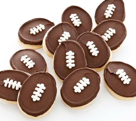 Cheryl's 12 Buttercream Frosted Football-Shaped Cookies