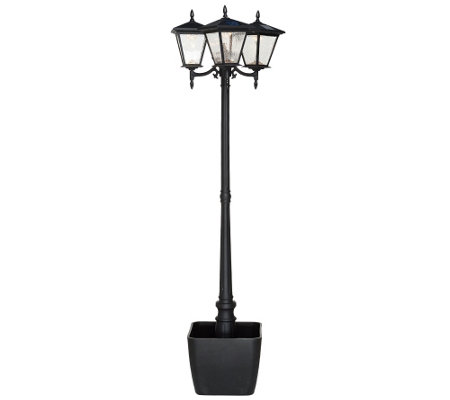Energizer Solar 3 Head Lamp Post W/ Detachable Planter
