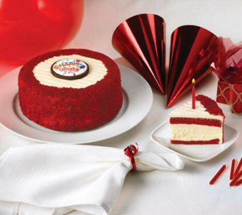"Junior's 7"" Happy Birthday Red Velvet Cheesecake - M115586"