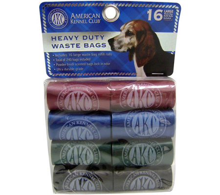 American Kennel Club Dog Waste Bags 16 rolls