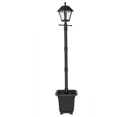 Gama Sonic 6' Solar Lamp Post with Planter & EZ Anchor