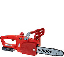 "Sun Joe iON 10"" Cordless Rechargeable Chain Saw with Charger - M49686"