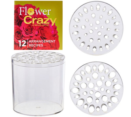 Flower Crazy Round Floral Arranger with Design Booklet