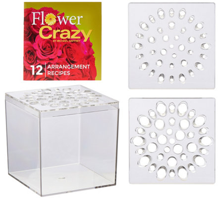 Flower Crazy Square Floral Arranger with Design Booklet