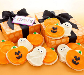 Cheryl's 12-pc Buttercream Frosted Halloween Cu t-Out Cookies - M112688