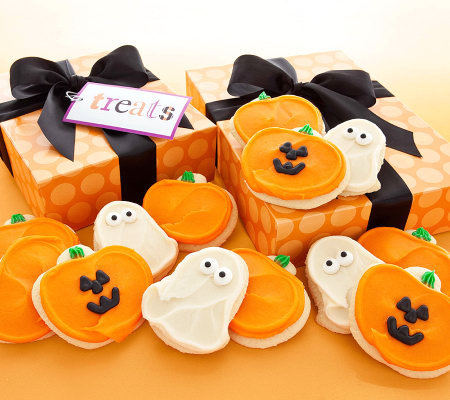 Cheryl's 12-pc Buttercream Frosted Halloween Cu t-Out Cookies