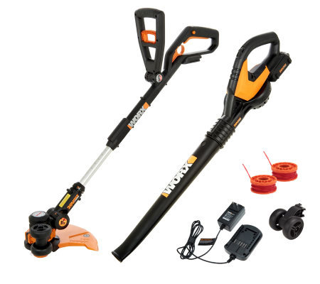 Worx Cordless Trimmer, Edger and Mini Mower Tool w/ Blower and 20V Battery