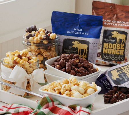 Ships 12/5 Harry & David 7lb Moose Munch Gourmet Holiday Popcorn Assort.