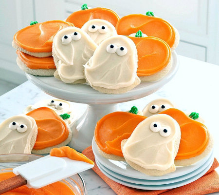 Cheryl's 24-pc Ghost and Pumpkins Buttercream F rosted Cookies