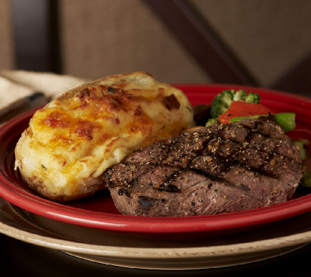 Kansas City (8) Top Sirloin Steaks & (8) Baked Potatoes Auto-Delivery