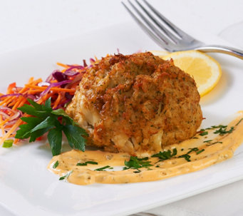 Ships 12/5 Great Gourmet (6) 8 oz. Crab Cakes Auto-Delivery - M53190