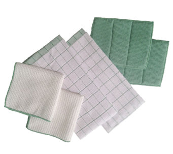 Don Aslett's 6-Piece Microfiber Kitchen Towel Set - M114591