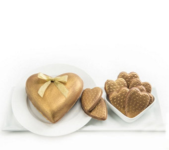 Landies Candies Valentine's Day Gold ChocolateHeart Set - M115691