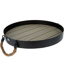 Scott Living Accent Tray with Rope Handles - M48591