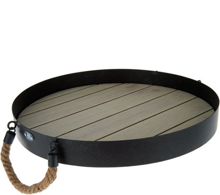 Scott Living Accent Tray with Rope Handles