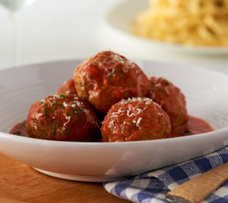 Mama Mancini's 6 lbs. of Beef or Turkey Meatballs with Sauce & Spices