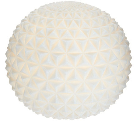 "Barbara King Indoor/Outdoor 9"" Illuminated Sandstone Sphere"