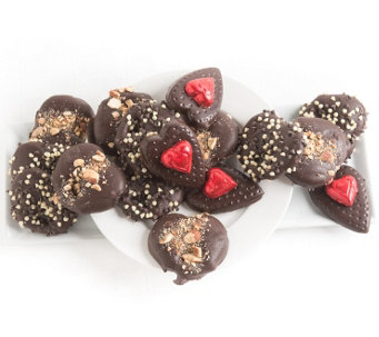 Landies Candies 16-pc Valentine's Day Dark Chocolate Pretzels - M115192