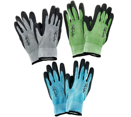 Infinity 3 Pair Garden Gloves by Maxfit