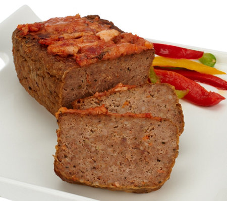 Mama Mancini's (4) 1 lb. Bacon Parmesan Meatloaf with Sauce