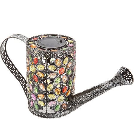 Plow & Hearth Jeweled Crystal Decorative Watering Can