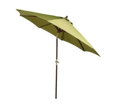 southern patio 9 39 wooden market umbrella w crank tilt page 1