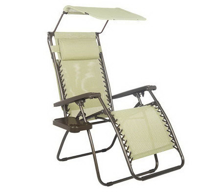 Medium image of bliss hammocks gravity free recliner with canopy  u0026 cup tray