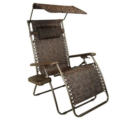 Bliss Hammocks XL Gravity Free Recliner w/Tray & Canopy with UV Protection