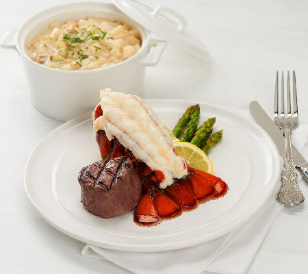 Lobster Gram (6)5-6oz Tails (6)4oz Filet Mignon & (3)18oz Chowder