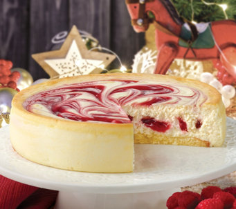 "Junior's 8"" Raspberry Swirl Cheesecake - M115594"