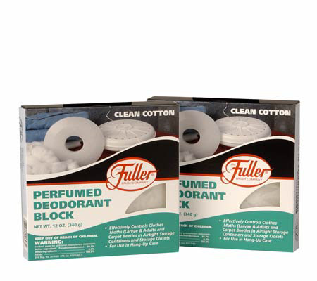 Fuller Brush Clean Cotton Deodorant Blocks Replacements (2)
