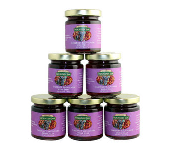 Colorado Mountain Jam (6) 5-oz Cabernet Sauvignon Wine Jelly - M113395