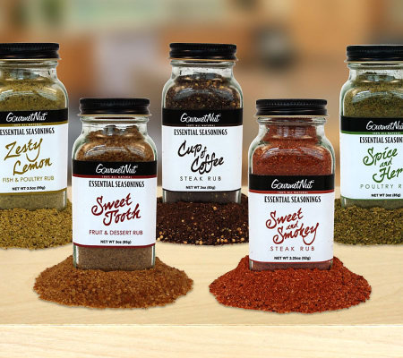 Gourmet Nut (5) 3 oz. Gourmet Spice Rub Set for Blue Jean Chef
