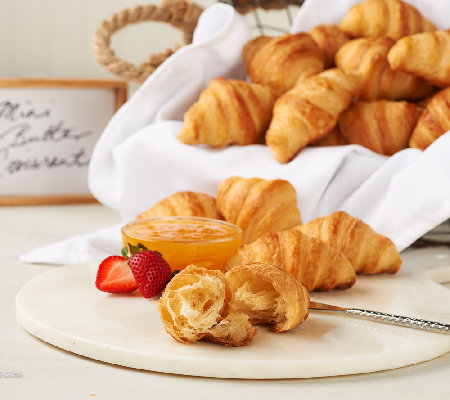 Authentic Gourmet (36) Imported French Mini Butter Croissants
