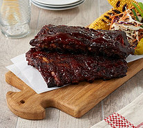 Corky's BBQ (8) 1-lb Competition Style Baby Back Ribs w/ Sauce - M58195