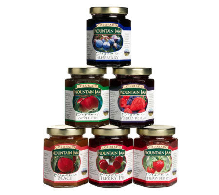 Colorado Mountain Jam Certified Organic (6) 8-oz Jams