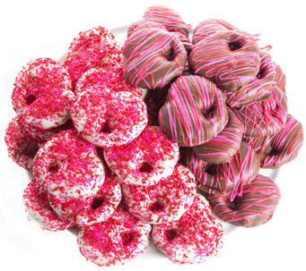 Landies Candies 36-pc Valentine's Chocolate Caramel Pretzels - M115196