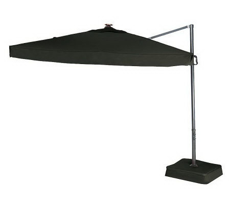 Southern Casual Olefin Offset Umbrella w/ Solar LED Lights & Base