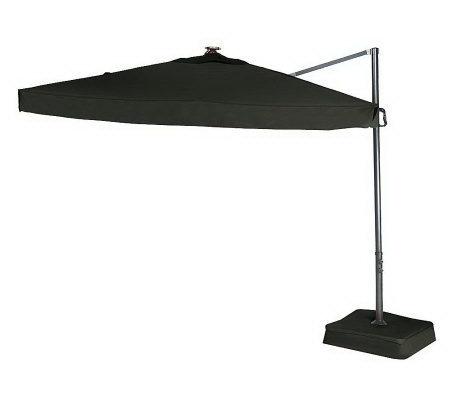 southern casual olefin offset umbrella w solar led lights base page 1. Black Bedroom Furniture Sets. Home Design Ideas