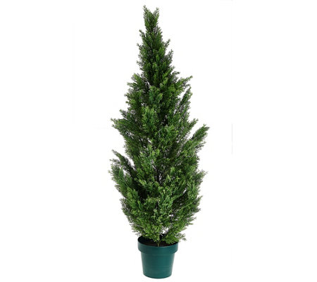 "National Tree Feel Real 63"" Cedar Tree with Growers Pot"