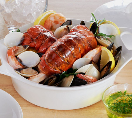 Lobster Gram 4 lb. Ultimate Seafood Bake w/ (4) 5-6 oz. Lobster Tails
