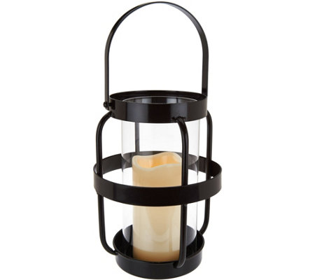 "Scott Living 14"" Open Metal Cage Lantern with Handle"