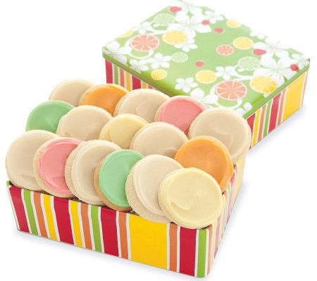 Cheryl's Summer Fruit Tin - 16 Frosted Cookies