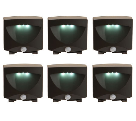 Set of 6 Battery Operated Motion Activate LED Lights