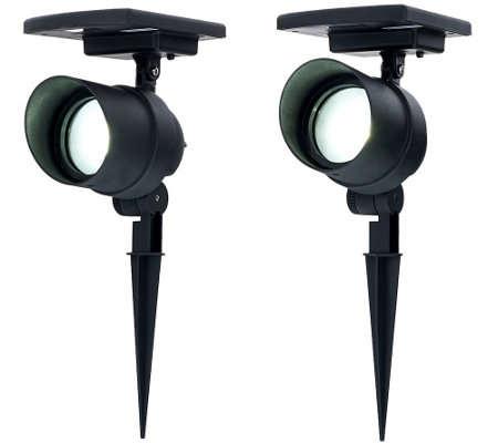energizer 2 pc solar spotflood lights with smart focus