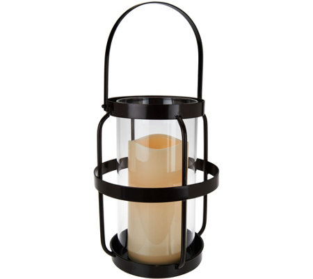 "Scott Living 18"" Open Metal Cage Lantern with Handle"