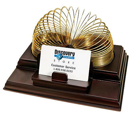 Executive slinky business card caddy from discovery qvc colourmoves Image collections