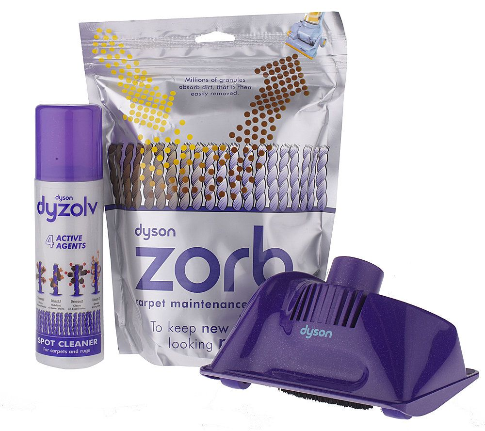 dyson carpet cleaning kit with dyzolv zorb andgroomer page 1 u2014 qvccom