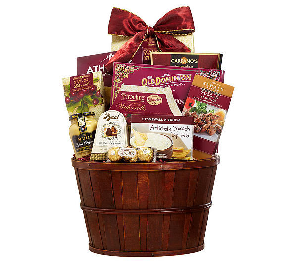 1 800 baskets plentiful gourmet gift basket qvc negle Choice Image