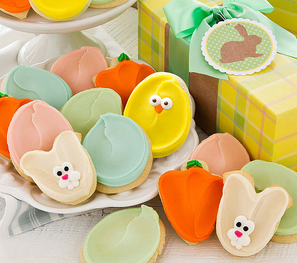 Cheryls 18 piece easter cookie gift box qvc negle Image collections